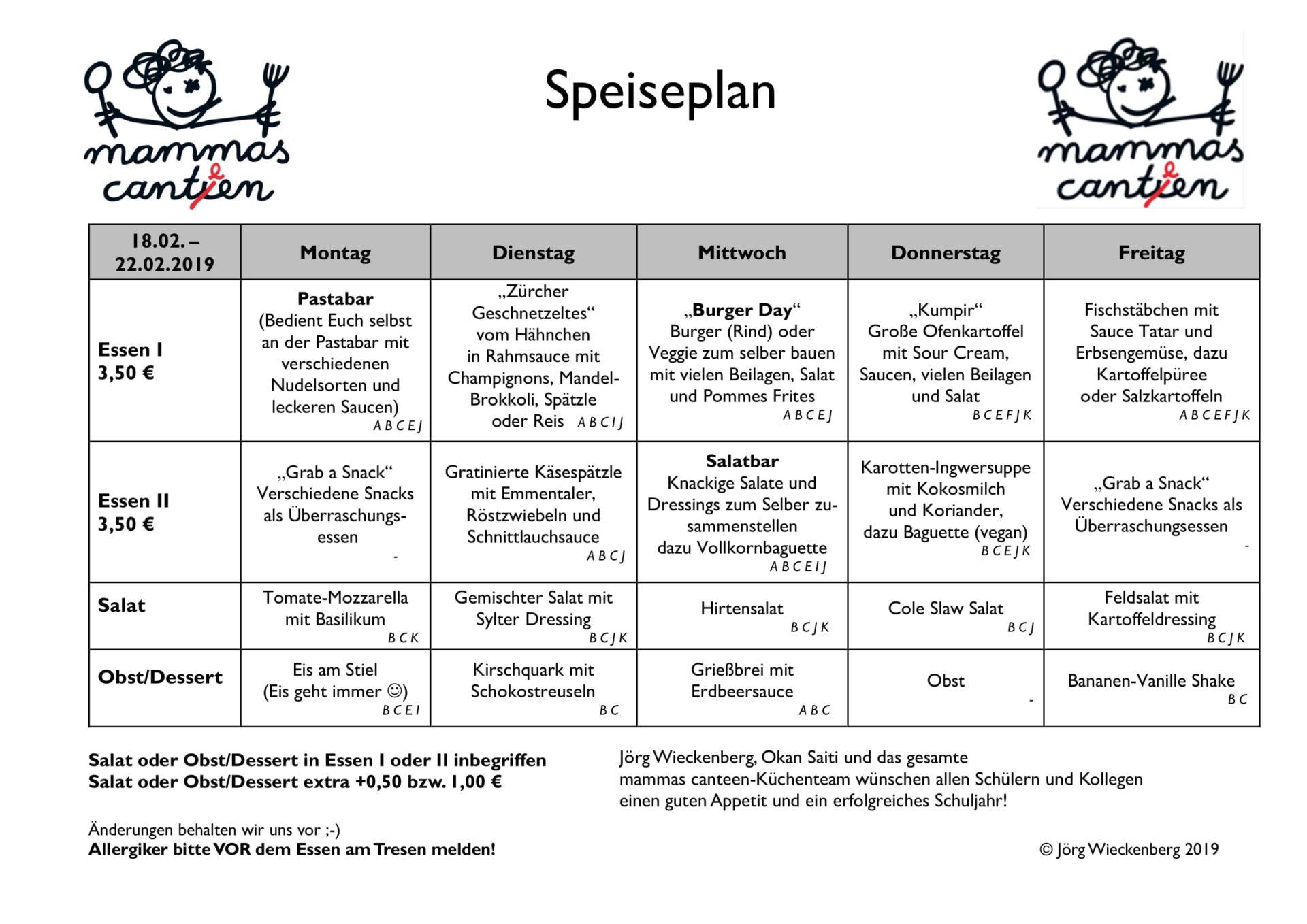 mammas canteen Speiseplan 18.02. -22.02.2019-1